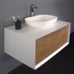 Ocean Bathrooms badkamermeubel Terschelling 900 Mat wit Eiken (1)