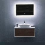 Ocean Bathrooms badkamermeubel Terschelling 900 Mat wit Eiken (3)
