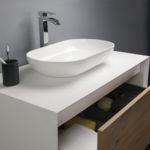 Ocean Bathrooms badkamermeubel Terschelling 900 Mat wit Eiken (4)